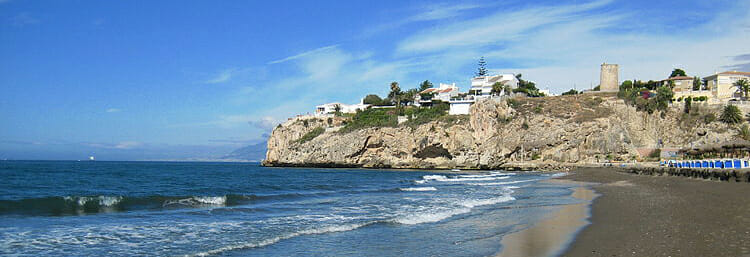 Beach in Rincón de la Victoria, Málaga, Spain