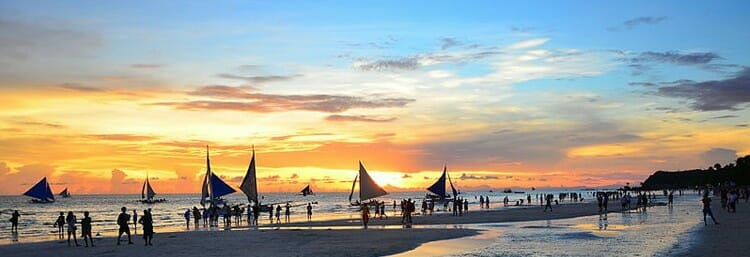 boracay sunset, picturesque