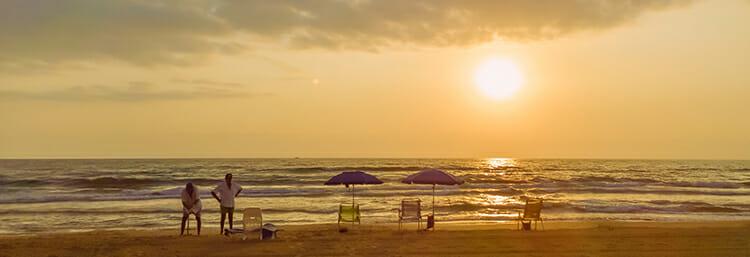 gandia, sunset, spain
